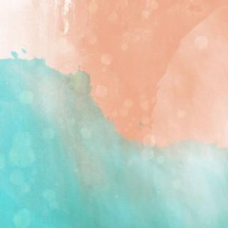 粉藍色手繪水彩卡通背景素材