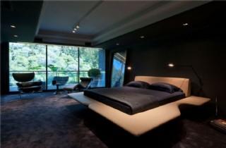 現代奢華壁燈臥室室內裝修效果圖