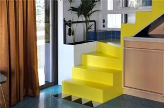 現代清新時尚黃色樓梯室內裝修效果圖