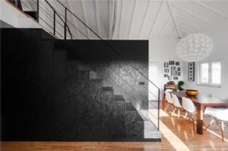 現代設計感客廳亮面木地板室內裝修效果圖