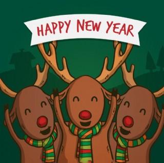 可愛的圣誕馴鹿背景