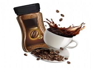 咖啡熱飲咖啡豆宣傳矢量元素
