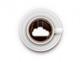 白色咖啡杯下午茶元素
