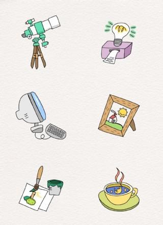 韓國兒童卡通矢量圖標