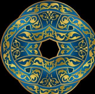 金色装饰花纹